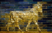 Aurochs of the Ishtar Gate — Stock Photo