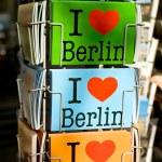 I Love cards of Berlin — Stock Photo