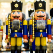 Nutcrackers in the shop — Stock Photo
