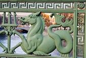 Hippokampos of the Palace Bridge — Stock Photo