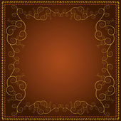 Background with decorative golden ornament — Stockvektor