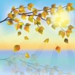Autumn tree on background of sunset — Stock Vector #11411072