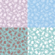 Collection of seamless patterns — Stock Vector