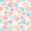 Seashells seamless pattern — Stock Vector