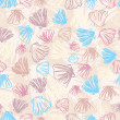 Royalty-Free Stock Vector Image: Seashells seamless pattern