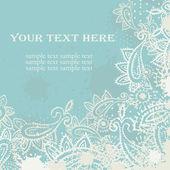 Vintage paisley elements greeting card — Wektor stockowy