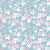 Stylized flowers seamless pattern — Stock Vector
