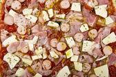 Pizza preparation — Stock Photo