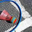 Stock Photo: Bad...minton corner (2)