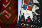 Traditional Romanian folk costume.Detail 1 — Stock Photo