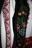 Traditional Romanian folk costume.Detail 2 — Stock Photo