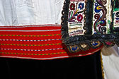 Traditional Romanian folk costume.Detail 6 — Stock Photo