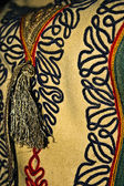 Traditional Romanian folk costume.Detail 14 — Stock Photo