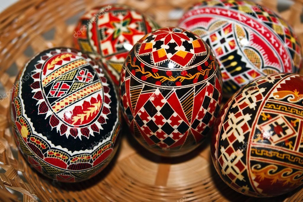 Trditional painted Easter eggs. Specific for the N-E of Romania. — Stock Photo #11133966