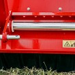 Industrial and agricultural equipment with warning sign 2 - Stock Photo