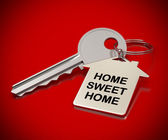 Home sweet home red background — Stock Photo