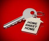 Fondo rojo hogar dulce hogar — Foto de Stock