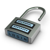 Password protected — Stock Photo
