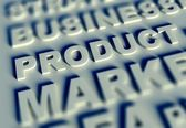 3d Business text table and product — Stock Photo