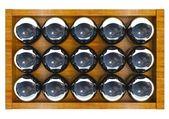 3d skupina koulí, izolované na bílém — Stock fotografie