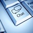 Keyboard and Chat button, internet concept — Stock Photo