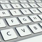 Modern computer keyboard — Stock Photo