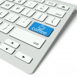 Keyboard and blue Coffee Break button, work concept — Stock Photo #11304604