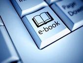 Keyboard and E-book button, internet concept — Stock Photo