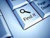 Tangentbord och hitta knappen, internet koncept — Stockfoto