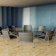 Stock Photo: Conference table and chairs, modern meeting