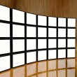 White screen video wall of many cubes — Stock Photo #11384177