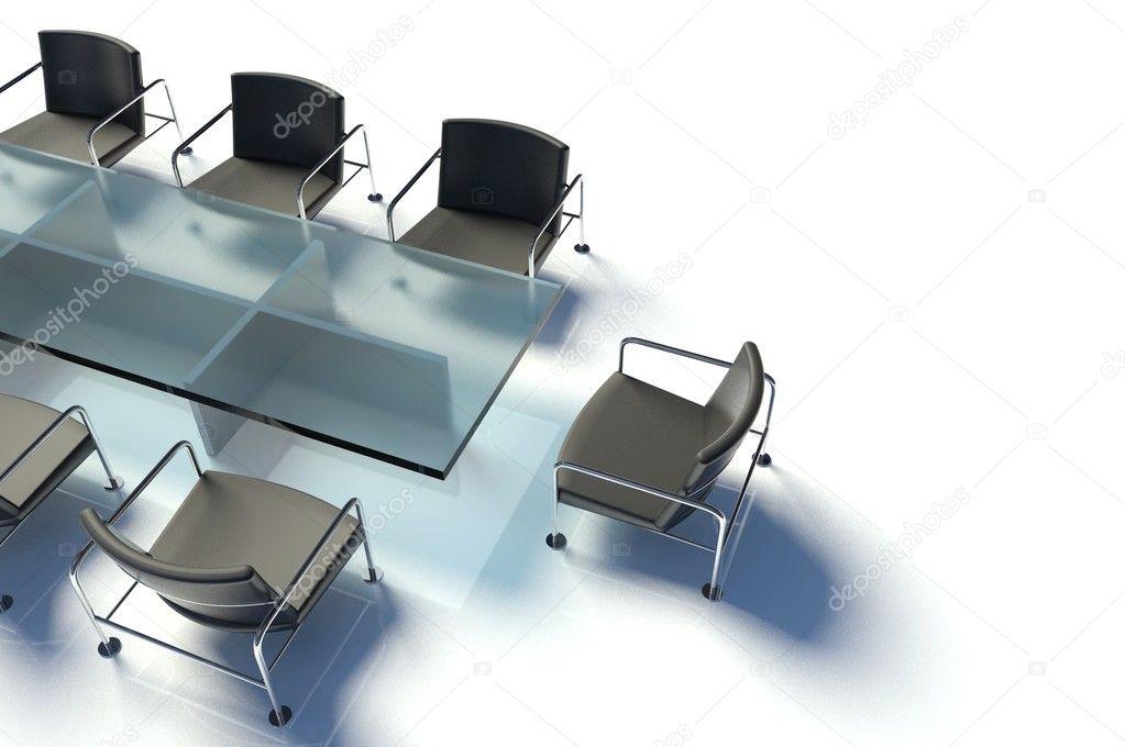 Mesa y sillas sala de reuniones foto de stock for Mesa sala de reuniones