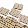 Cardboard boxes on wooden pallets, warehouse — Stock Photo #11480863
