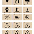 Royalty-Free Stock Photo: Set of packing icons on the cardboard boxes, symbols