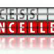 Stock Photo: Access concept, cancelled