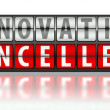 Постер, плакат: Business concept of innovation cancelled