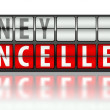 Stock Photo: Business concept of money, cancelled