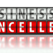 Business concept of problem, cancelled — Stock Photo