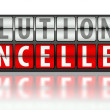 Stock Photo: Business concept of solution, cancelled