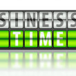 Business concept of successs, on time — Stock Photo