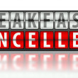 Stock Photo: Eating concept of breakfast, cancelled