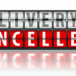 Ecommerce concept of delivery, cancelled — Stock Photo