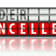 Stock Photo: Ecommerce concept of order, cancelled