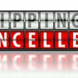 Stock Photo: Ecommerce concept of shipping, cancelled