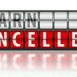 Stock Photo: Learn concept, cancelled