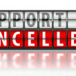 Support concept, cancelled — Stock Photo