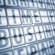 Time for business information on display board — Stock Photo