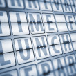 Time for lunch information on display board — Stock Photo