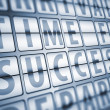 Time for success information on display board — Stock Photo
