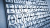 Express order information on display board — Stock Photo